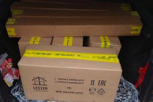В багажник стандартного универсала помещается не менее 6 комплектов LESTEP