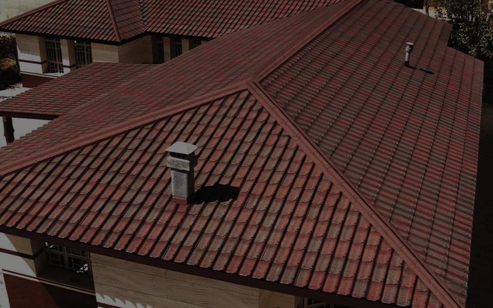 фото крыш из черепицы ондулин используется для